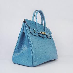 Hermes Birkin 35 Ostrich Blue Jean - 34986